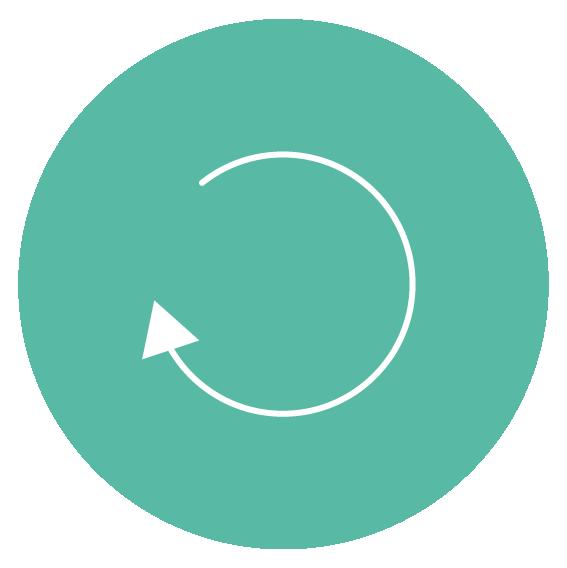pictogramme rappelant le logo de la méthode Total Reset sur fond vert